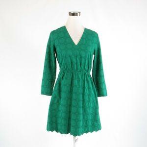 Green J. CREW  A-line dress 0